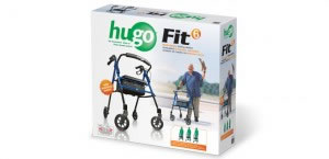 Hugo Fit 6 Rolling Walker, Retail Box