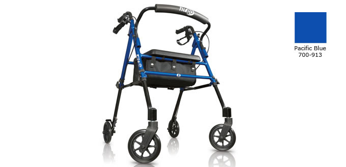 Hugo Fit 6 Rolling Walker, Pacific Blue