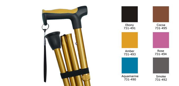 Hugo Folding Cane, cane colors
