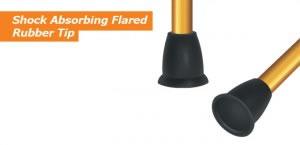 Hugo Folding Cane's Shock Absorbing Flared Rubber Tip