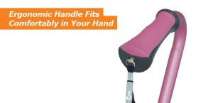 Hugo Quad Cane's Ergonomic Handle Fits Comfortably in Your Hand