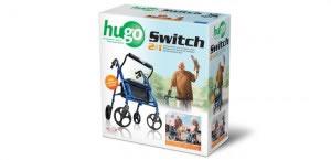 Hugo Switch Rolling Walker Transport Chair, Retail Box