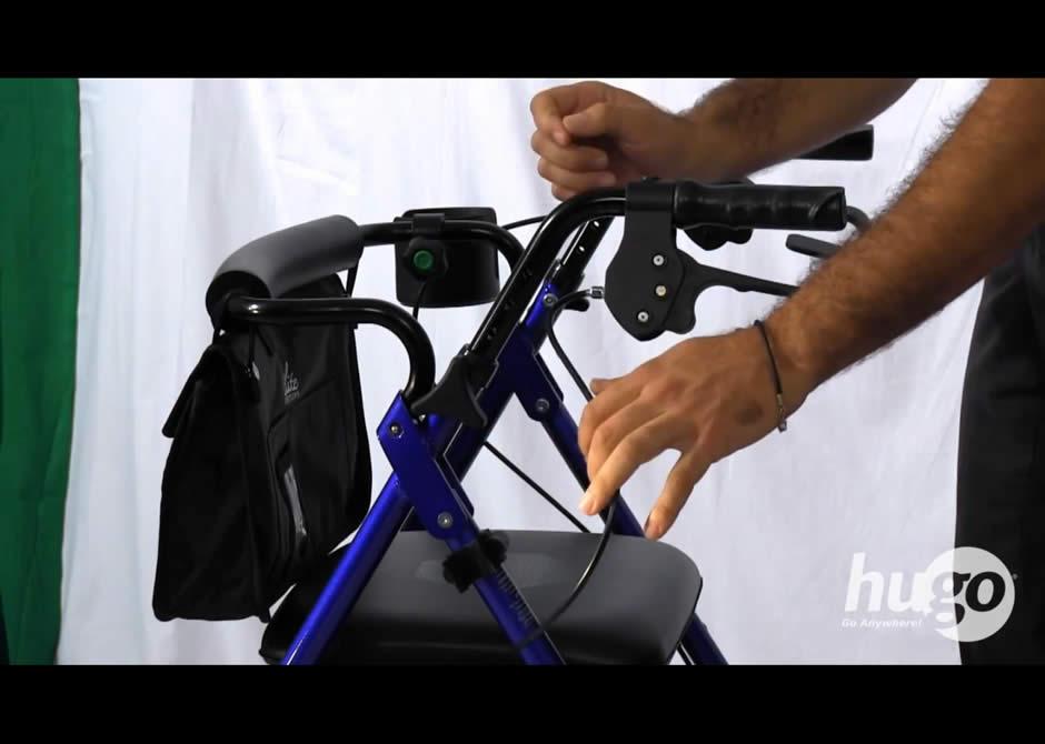 How To Adjust The Handles Of Your Hugo Rolling Walker