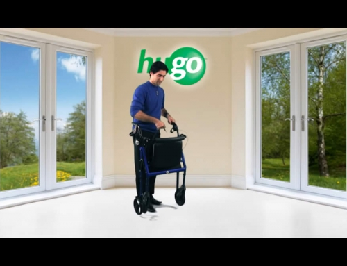 How to fold your Hugo Rolling Walker with Seat