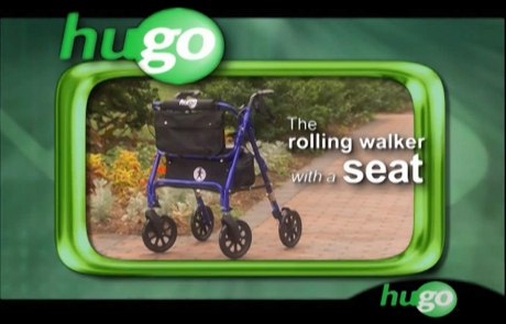 Hugo Elite - Rolling Walker with a seat - Video