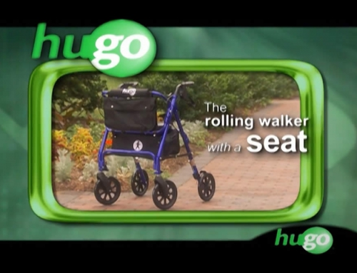 Hugo Elite – Rolling Walker with a seat – Video