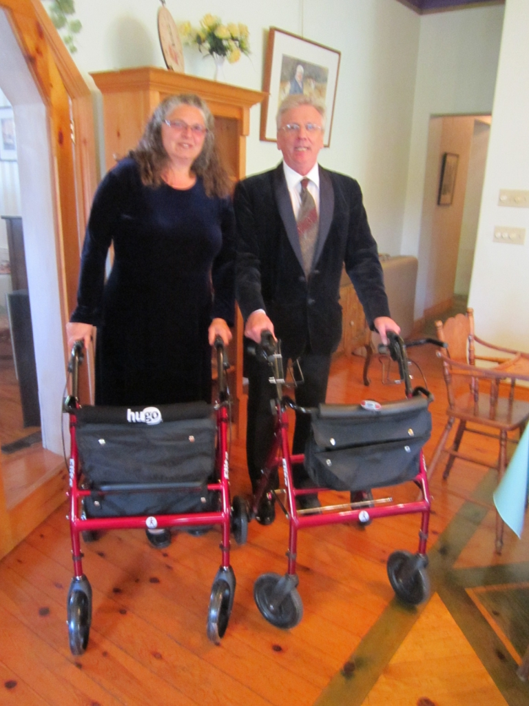 Bob Hardy and Alice Nicolaou at Participation show Oct 2014