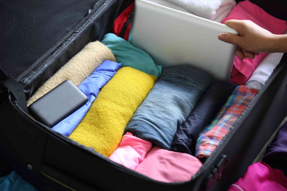 Marilyn's travel suitcase