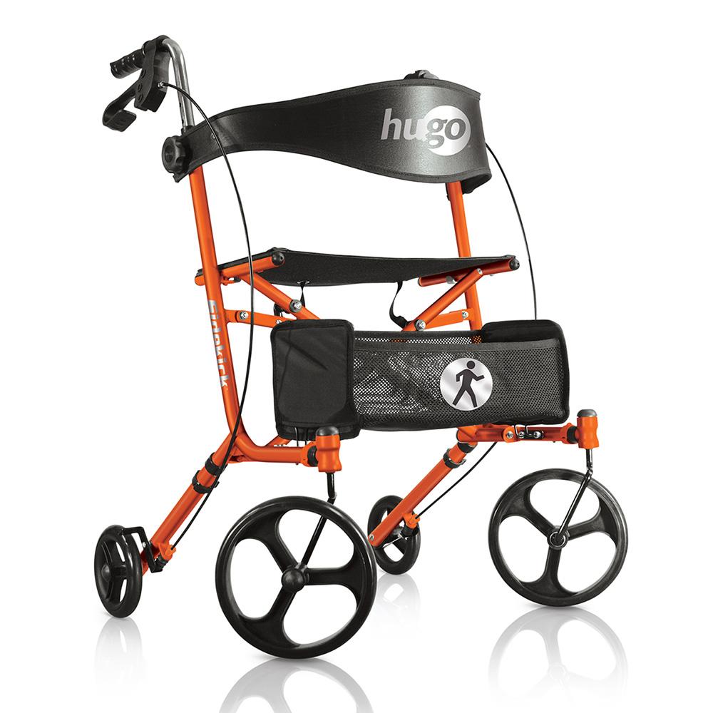 hugo sidekick side folding rolling walker with a seat hugo mobility