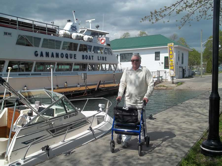 Touring Gananoque with Hugo Elite and Bob Hardy