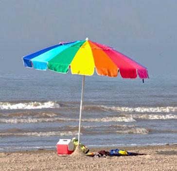 foldable beach umbrella