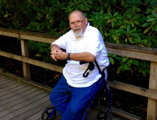Charles Brunner travels to accessible trail